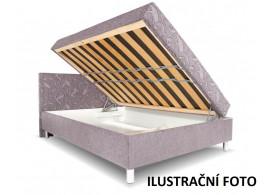 Čalouněná postel s čelem a úložným prostorem Zuzana, 140x200, BÉŽOVÁ