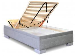 Čalouněná postel s úložným prostorem Litera, 120x200 cm