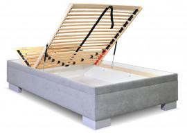 Čalouněná postel s úložným prostorem Litera, 140x200 cm
