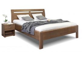 Zvýšená postel dvoulůžko z masivu CLAUDIA, masiv buk