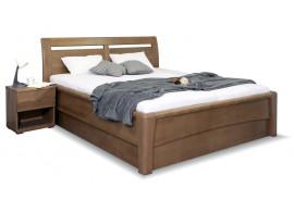 Zvýšená postel s úložným prostorem CONSTANTA, masiv buk