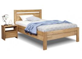 Zvýšená postel z masivu Klementin, 140x200, masiv buk
