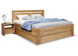 Zvýšená postel s úložným prostorem Klementin, masiv buk