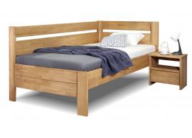 Zvýšená postel z masivu Academia, 80x200, 90x200, masiv buk, Levá