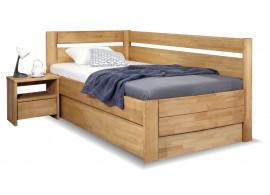 Zvýšená postel s úložným prostorem Academia, 80x200, 90x200, masiv buk, Pravá