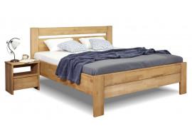 Zvýšená postel dvoulůžko z masivu Orfeus, masiv buk