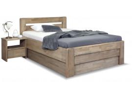 Zvýšená postel s úložným prostorem Primátor, masiv buk, 140x200