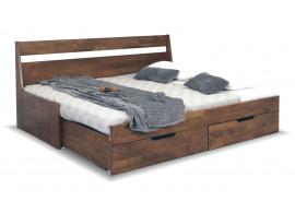 Rozkládací postel s úložným prostorem Gabriel, masiv buk