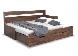 Rozkládací postel s úložným prostorem Gabriel, masiv buk - Pravá