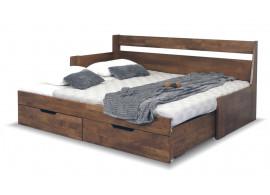 Rozkládací postel s úložným prostorem Gabriel, masiv buk - Levá