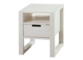 Noční stolek RHINO C0560 B, masiv bílý smrk