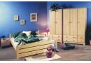 Manželská postel z masivu THORSTEN 008, 180x200 - smrk