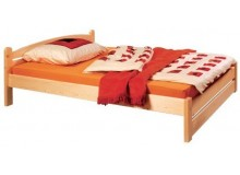 Manželská postel z masivu THORSTEN 008N, 180x200, masiv smrk