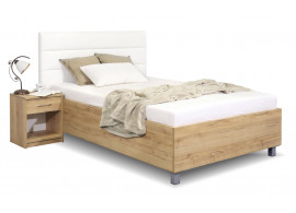 Čalouněná postel La Futura, s úložným prostorem, 120x200 cm