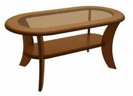 Konferenční stolek oválný 125x65 - KR51