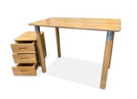 Sestava - rostoucí psací stůl MINI D727/BC - Domino, masiv buk - VÝPRODEJ Z EXPOZICE