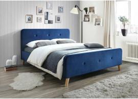 Čalouněná postel CS11472, velvet granátově modrá látka, 160x200 cm
