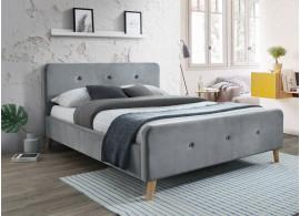 Čalouněná postel CS11472, velvet šedá látka, 160x200 cm