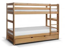 Patrová postel s rošty Twister, masiv buk