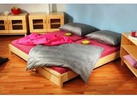 Zvýšené jednolůžko - postel DOMINO D905-TZ, masiv smrk, SKLADEM !!