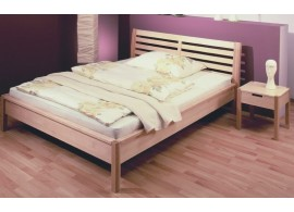 AKCE - postel dvoulůžko MILOŠ masiv buk-třešeň, matrace + rošty ZDARMA !