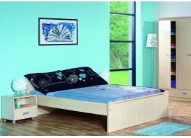 Manželská postel - dvoulůžko FERDA-F03 180x200, bříza,