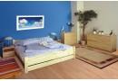 Manželská postel - dvoulůžko NK-25 200x200, masiv smrk