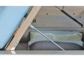 Postel z masivu - jednolůžko H-096BS 100x200, buk