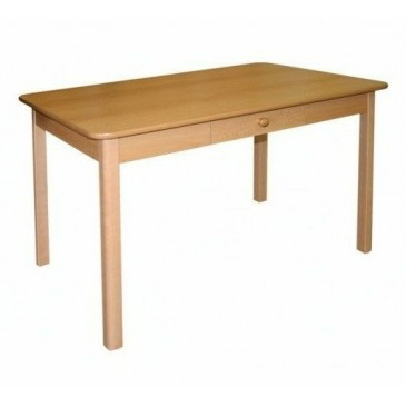 Jídelní stůl se zásuvkou 110x70 - SR02, buk, olše