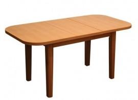 Rozkládací jídelní stůl Štefan, lamino/masiv, 125x85 cm