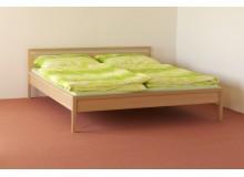 Manželská postel, dvoulůžko DUO-42, masiv BUK