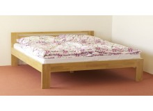 Manželská postel z masivu - dvoulůžko DUO-14, masiv DUB