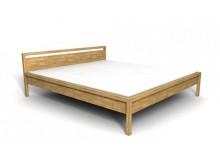Manželská postel, dvoulůžko DUO-42, masiv DUB