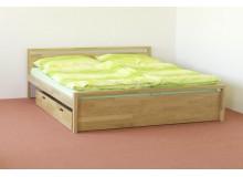 Manželská postel, dvoulůžko DUO-61, masiv DUB