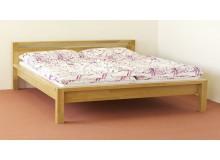 Manželská postel, dvoulůžko DUO-85, masiv DUB