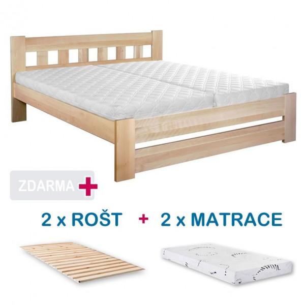 4e0b6cca77b2 Manželská postel BARA s roštem a matrací ZDARMA 180x200