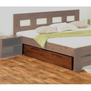 Úložný prostor pod postele 229-BC Ořech, masiv buk