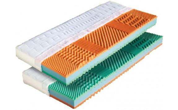 Matrace MALAGA 90x200 1+1 Zdarma, líná pěna + studená BIO pěna