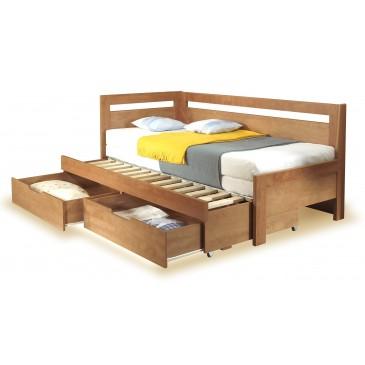 Rozkládací postel s úložným prostorem ESTER TANDEM levá, 90x200