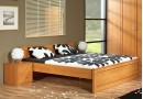 Manželská postel dvojlůžko B20-BOLZANO 180x200, olše