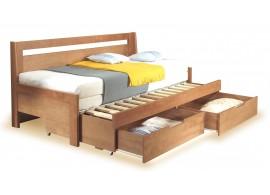 Rozkládací postel s úložným prostorem TINA TANDEM, 90x200