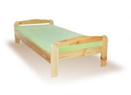 Postel dvoulůžko KARLO, bělené dřevo 160 x 200 cm - LP10
