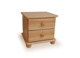 Noční stolek NS-Z2, masiv borovice