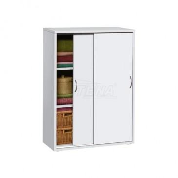 Prádelní skříň IA601B, bílá
