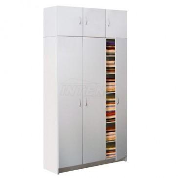 Šatní skříň JUMBO třídílná IA316B - lamino bílá
