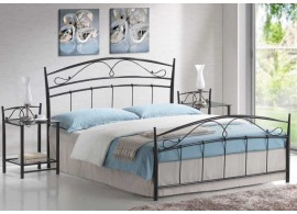 Zvýšená postel s úložným prostorem VAREZZA 7 senior 160x200, 180x200, masiv buk - moření tabák