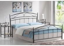 Manželská kovová postel dvoulůžko Siena, 160x200