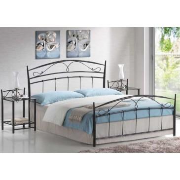 Manželská kovová postel dvoulůžko CS4017 160x200