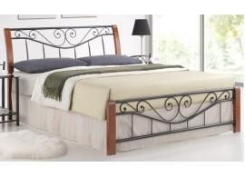 Manželská postel dvoulůžko CS4020, dřevo-kov, 160x200, 180x200