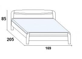 Postel dvoulůžko LAURA - oblé, 160x200, 180x200